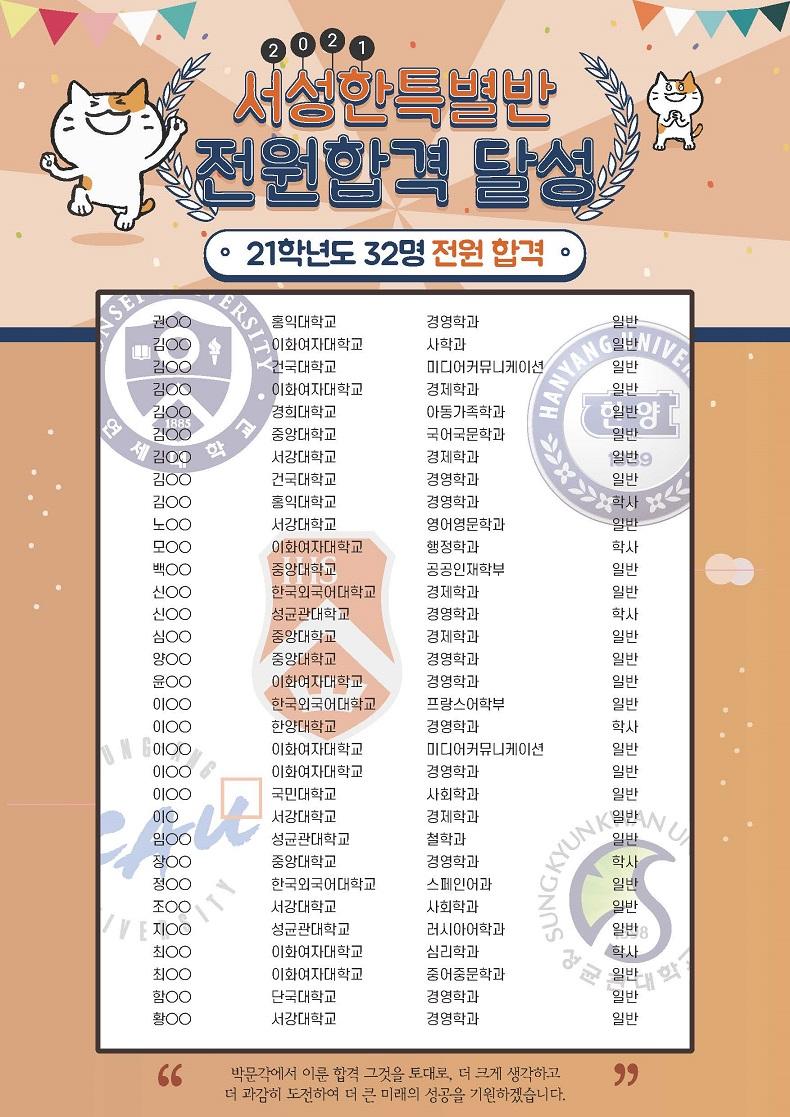 박문각 편입학원, 2022대비 최상위권 서성한 특별반 3월 개강